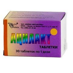 Ацилакт в таблетках