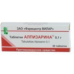 Противірусний засіб Алпизарин в таблетках