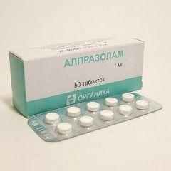 Алпразолам в дозуванні 1 мг