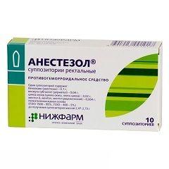Анестезол - свічки для лікування геморою
