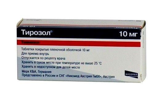 Тирозол при тиреотоксикозі щитовидної залози