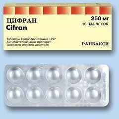 Таблетки Цифран в дозуванні 250 мг