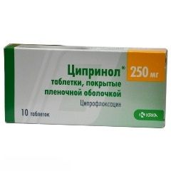 Ципринол в таблетках 250 мг