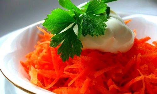 Салат з моркви із сметаною