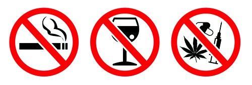 дієта вимагає відмови від куріння, алкоголю