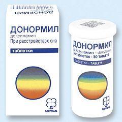 Таблетки Донорміл від розладу сну
