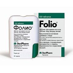 Форма випуску Фоліо - таблетки