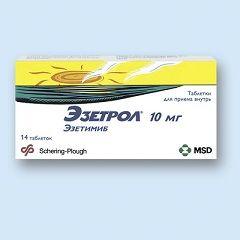 Таблетки Езетрол 10 мг