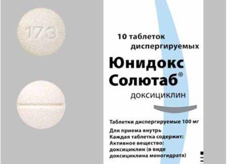 Юнідокс cолютаб від прищів: застосування, відгуки, протипоказання