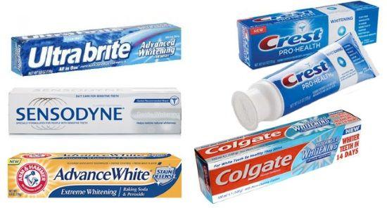 Зубні пасти для відбілювання