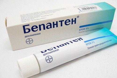 При виникненні дерматиту у немовляти рекомендується використовувати Бепантен