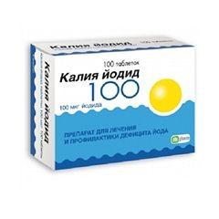 Таблетки Калію йодид в дозуванні 100 мкг