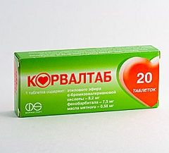 Седативний препарат Корвалтаб