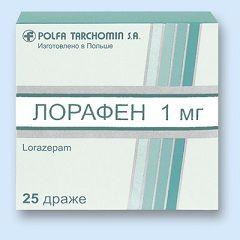 Лорафен - аналог лоразепамом