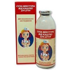 Суха мікстура від кашлю для дітей - відхаркувальний засіб