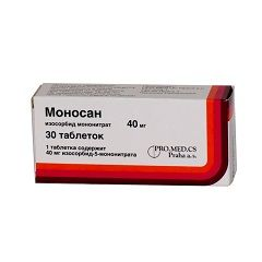 Таблетки Моносан 40 мг