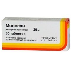 Таблетки Моносан 20 мг