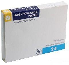 Кишкові антисептичні таблетки Нифуроксазид Ріхтер