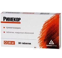 Рімекор - препарат, що поліпшує метаболізм міокарда