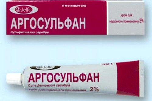 Хорошим протимікробну і ранозагоювальну дію має Аргосульфан