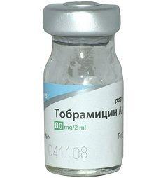 Тобраміцин в формі порошку для приготування розчину