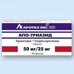 Апо-Тріазід - аналог тріампур