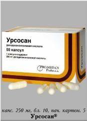 Урсодезоксихолева кислота в капсулах