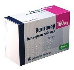 Таблетки Вальсакор в дозуванні 160 мг