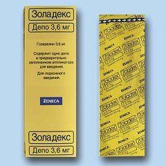 Золадекс в дозуванні 3,6 мг